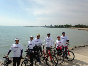 Team #MyJihad at Bike the Drive on beautiful Lake Michigan raising money for Oklahoma Relief.