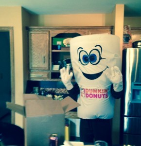 Okay- what can I say.  A lot of us REALLY like Dunkin Donuts coffee.  Thanks for the surpirse, B!