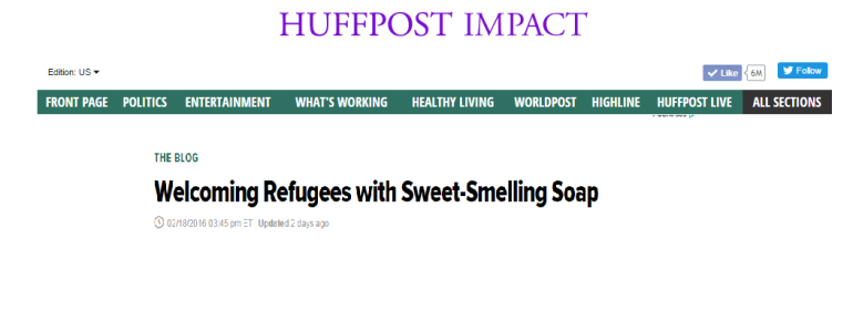 Welcoming Refugees with Sweet-Smelling Soap